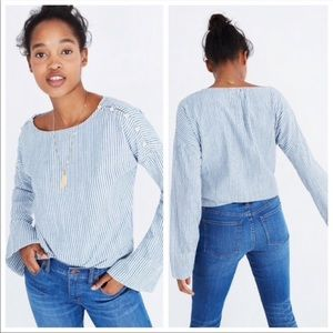 Madewell | Convertible Cold Shoulder Top